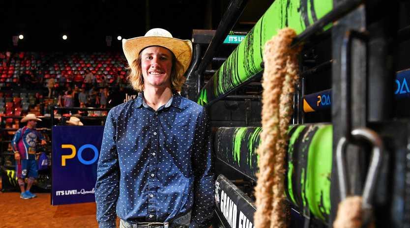 CROWNED WINNER: The Professional Bull Riding 2018 Australian Champion Aaron Kleier.