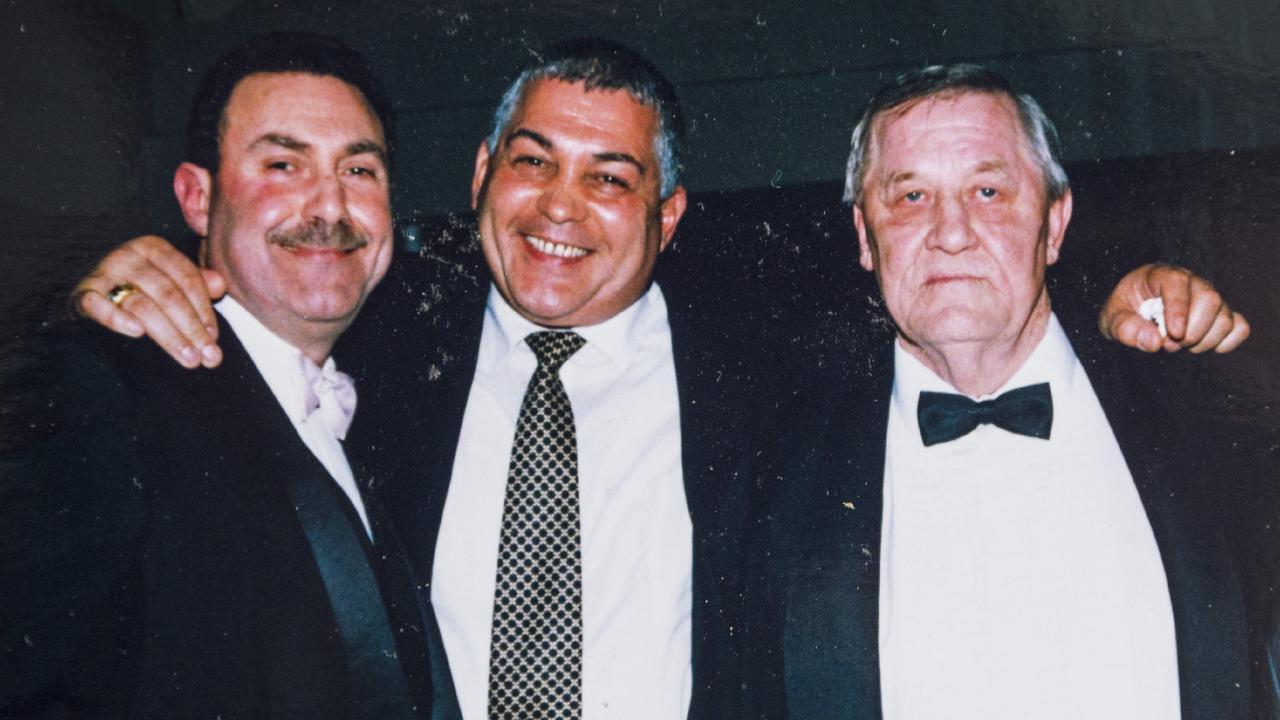 Mario Condello, Mick Gatto and Graham Kinniburgh. Picture: Supplied