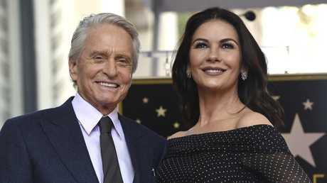 Long-married couple Michael Douglas, left, and Catherine Zeta-Jones. Picture: AP