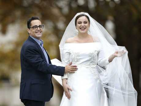 September was the most popular month for marriages in Queensland, followed by October, while January was the least popular month. Bride to be Natasha Failla, pictured, wearing a replica of Meghan Markle's dress by Melbourne designer Aldo Terlato. Picture: David Caird