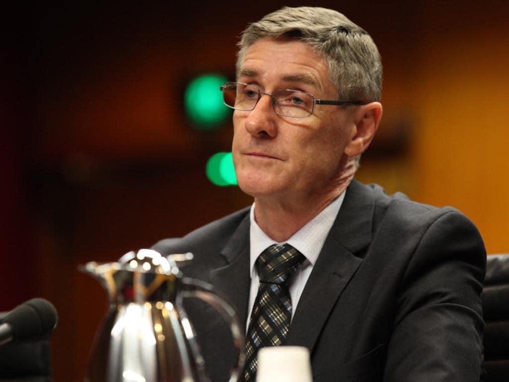 The ATO's Mark Konza at a Senate inquiry. Picture: Tim Hunter