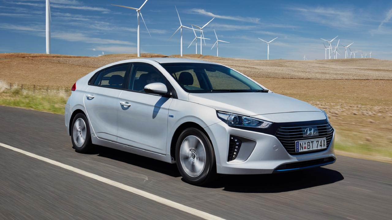 The Ioniq range includes a hybrid, plug-in hybrid and fully-electric vehicles.