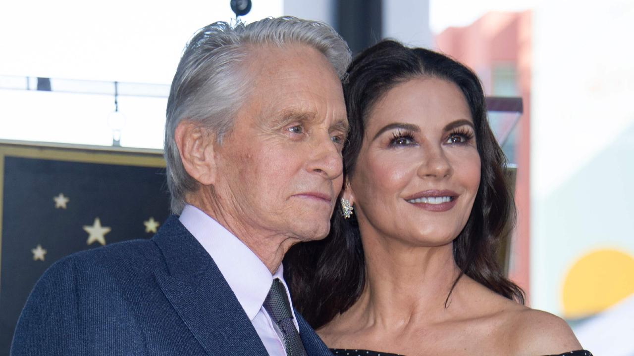 Actors Michael Douglas and Catherine Zeta-Jones. Picture: AFP