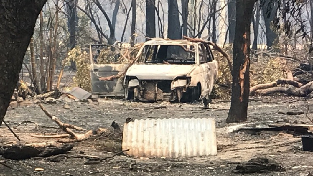 Bushfires at Deepwater have razed building and destroyed property. Picture: Chris Clarke