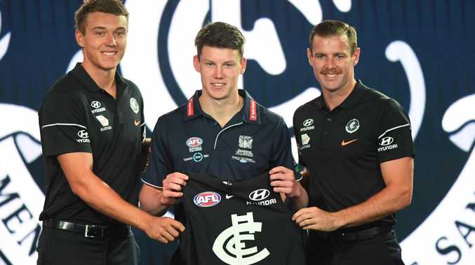 The Giants have questioned Carlton's choice of Sam Walsh as pick No.1. (AAP Image/James Ross)