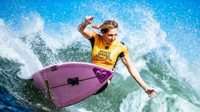 Stephanie Gilmore on her way to winning a record-equalling seventh world title. Picture: WSL/Sloane