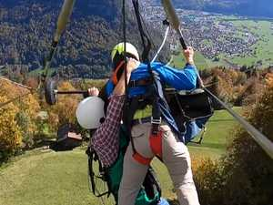 'Near death' hang gliding ordeal caught on film