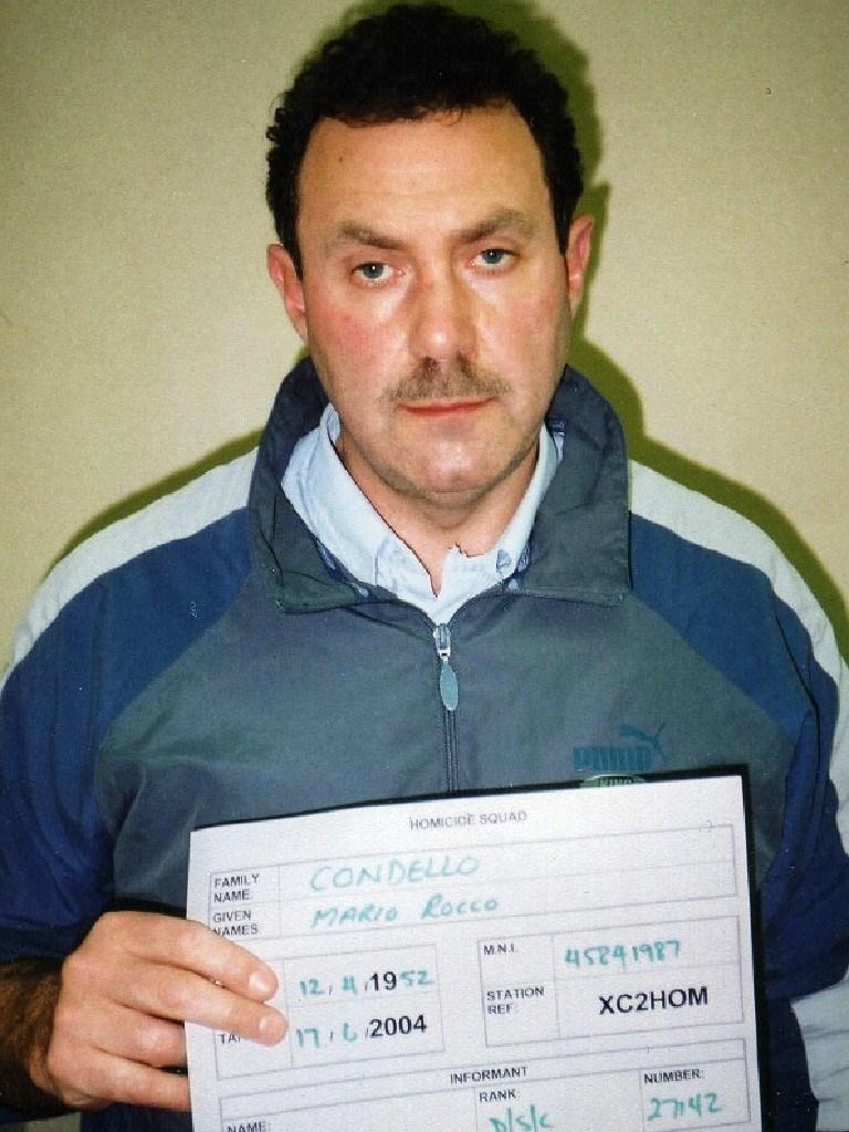 A police mugshot of Condello. Picture: Supplied