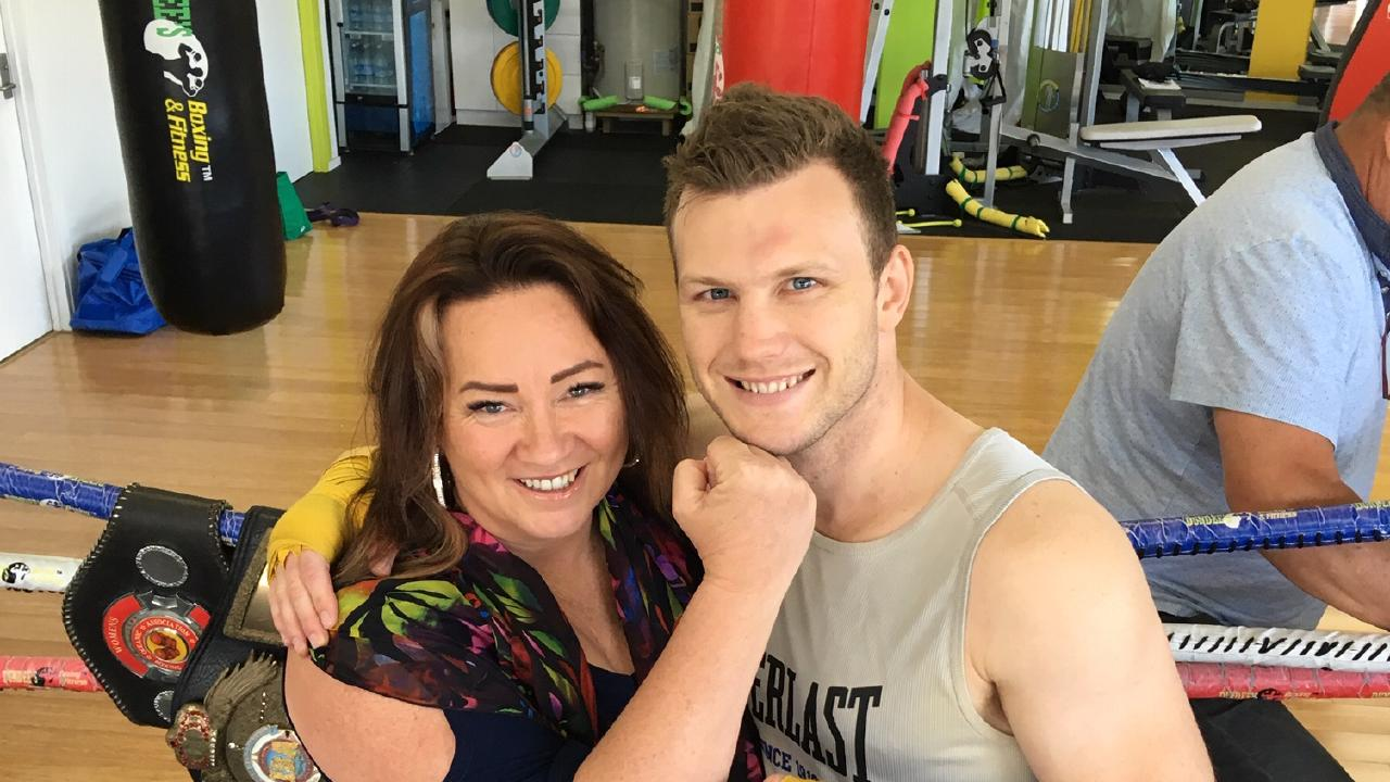 Sharon Anyos and Jeff Horn at Dundee's Gym, Fairfield.
