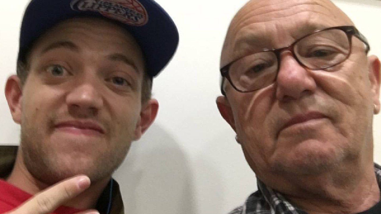 Liam and his dad Angry Anderson. Picture: Facebook