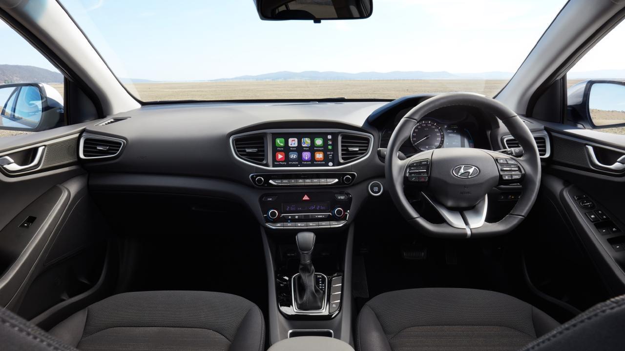 The Ioniq is a similar size to the Hyundai Elantra small car.