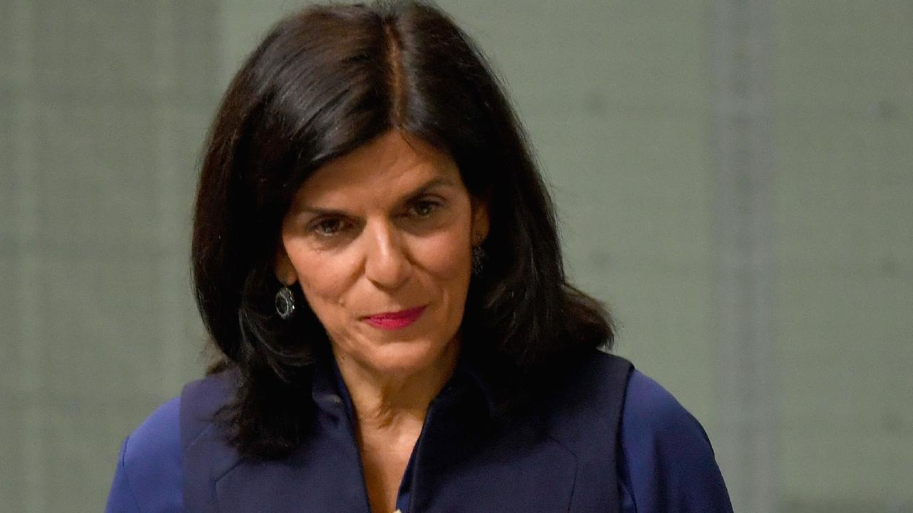 Julia Banks at Parliament House. Picture: Tracey Nearmy/Getty Images