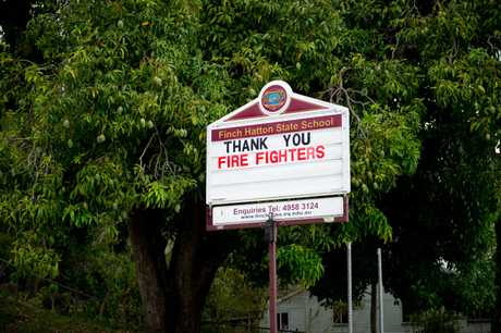 A message of appreciation from Finch Hatton State School to all the fire fighters helping keep their community safe.