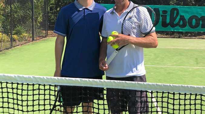 David McMahon with  son Tristan.
