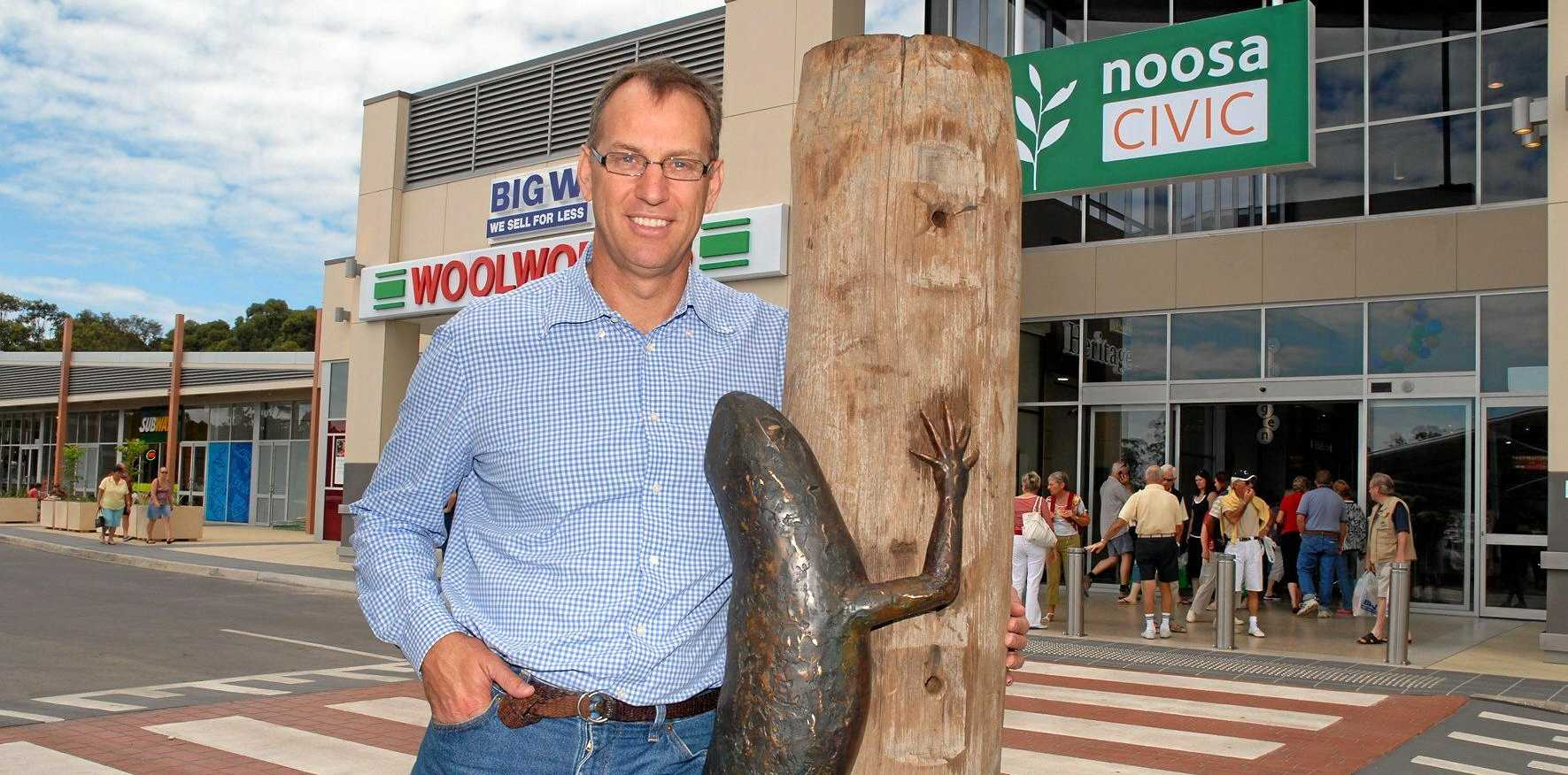 FUTURE PAST: Developer Mark Stockwell at Noosa Civic Shopping Centre opening.