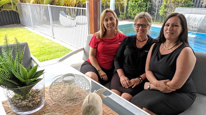 THE PEOPLE HAVE SPOKEN: Owner Kim Underwood, colour consultant Annelise Collins and new home consultant Michelle Smith welcomed the accolade.