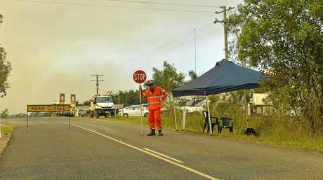 Activity around the Baffle Creek area as firefighting crews battle multiple bushfires across Deepwater.