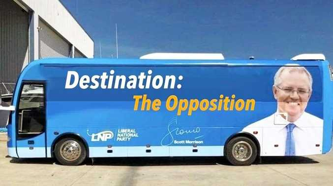 BUS CRASH: Memes about Scott Morrison's big blue bus appear to be on the money.