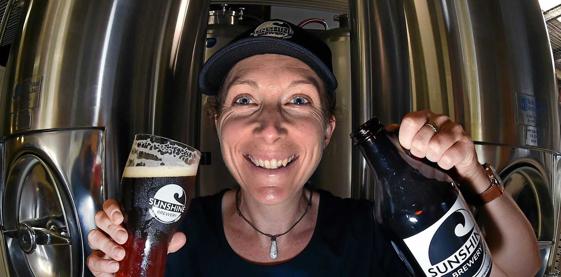 ICE COLD: Beer advocate Leah Hayes, from Sunshine Brewery, getting ready for a big weekend at the Craft Beer and Cider Festival.
