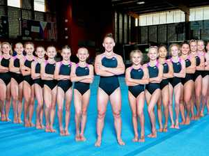 450 gymnasts performing in musical extravaganza