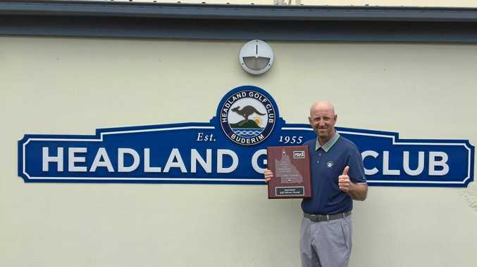 HONOUR: Headland Golf Club's Adam Norlander won the Australian PGA club professional of the year on Tuesday night.