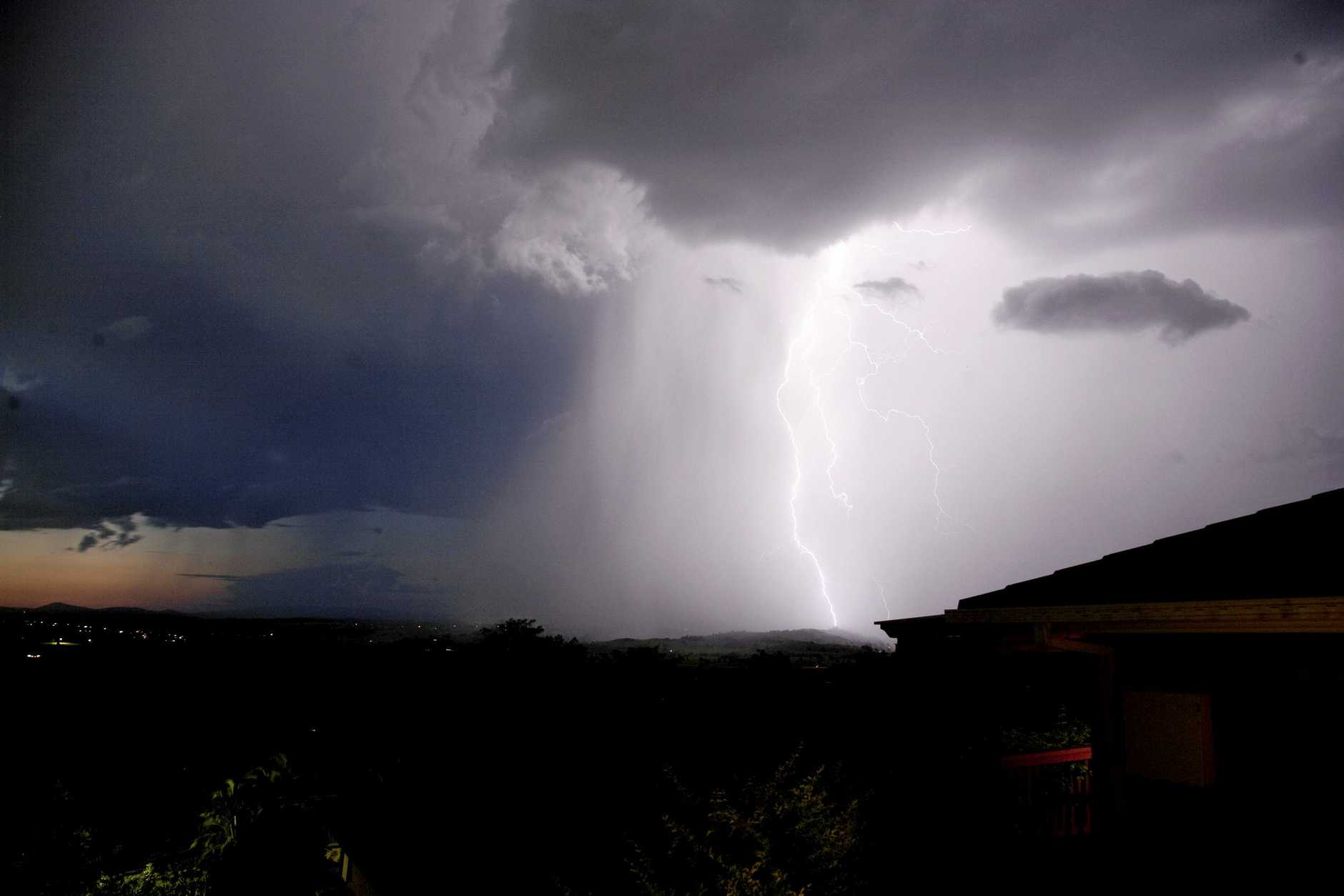 A storm over Lismore. Photo Jay Cronan / The Northern Star