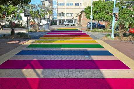 An artist's impression of the rainbow walkway in Magellan Street.