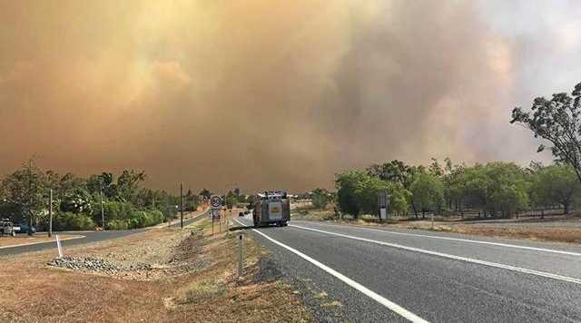 Gracemere has been blanketed in smoke from a number of fires near Stanwell and Kabra.