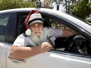 Toowoomba Santa trades sleigh for Black and White cab