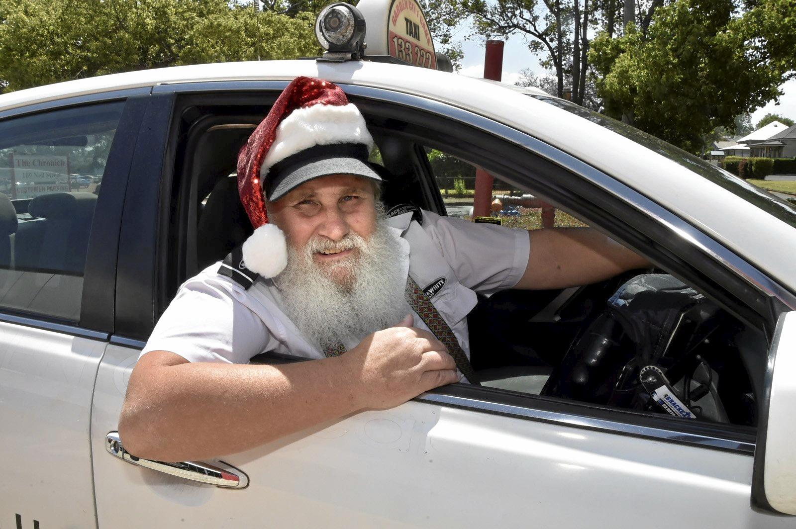 Santa cab driver, Kevin Eden. November 2018