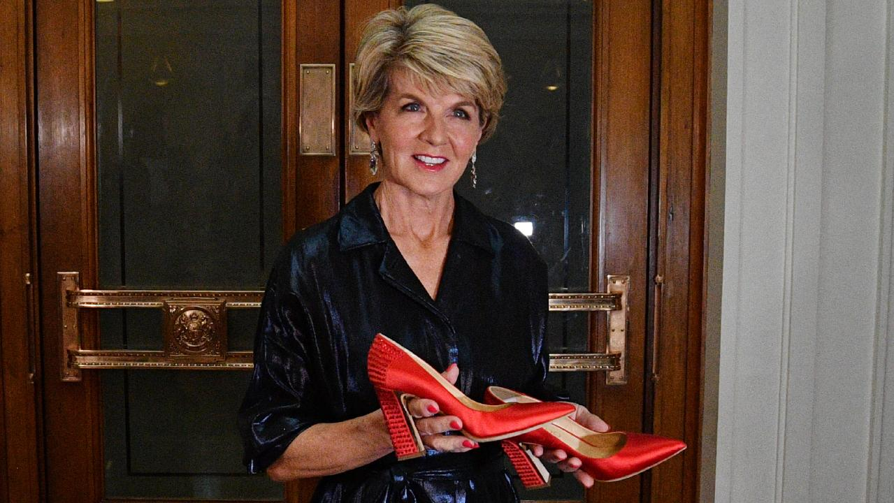 Julie Bishop resigned as foreign minister and deputy Liberal leader when she was humiliatingly rejected in the leadership ballot. Picture: AAP