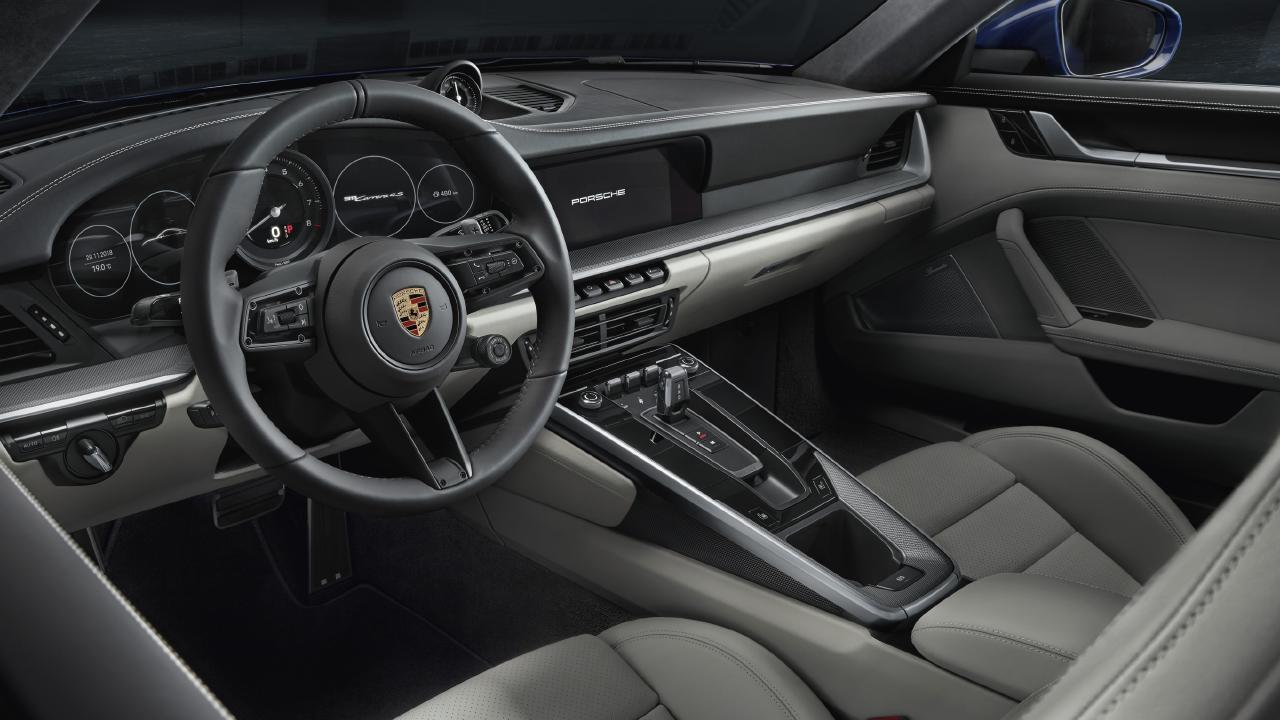 The 911's interior has a more luxury feel than before. (overseas model shown)