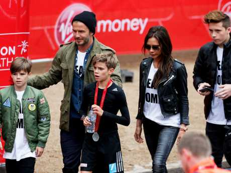 The Beckhams are a close knit family. Picture: Getty Images