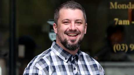 Far-right activist Neil Erikson supported Nolch in court. Picture: David Geraghty/The Australian.