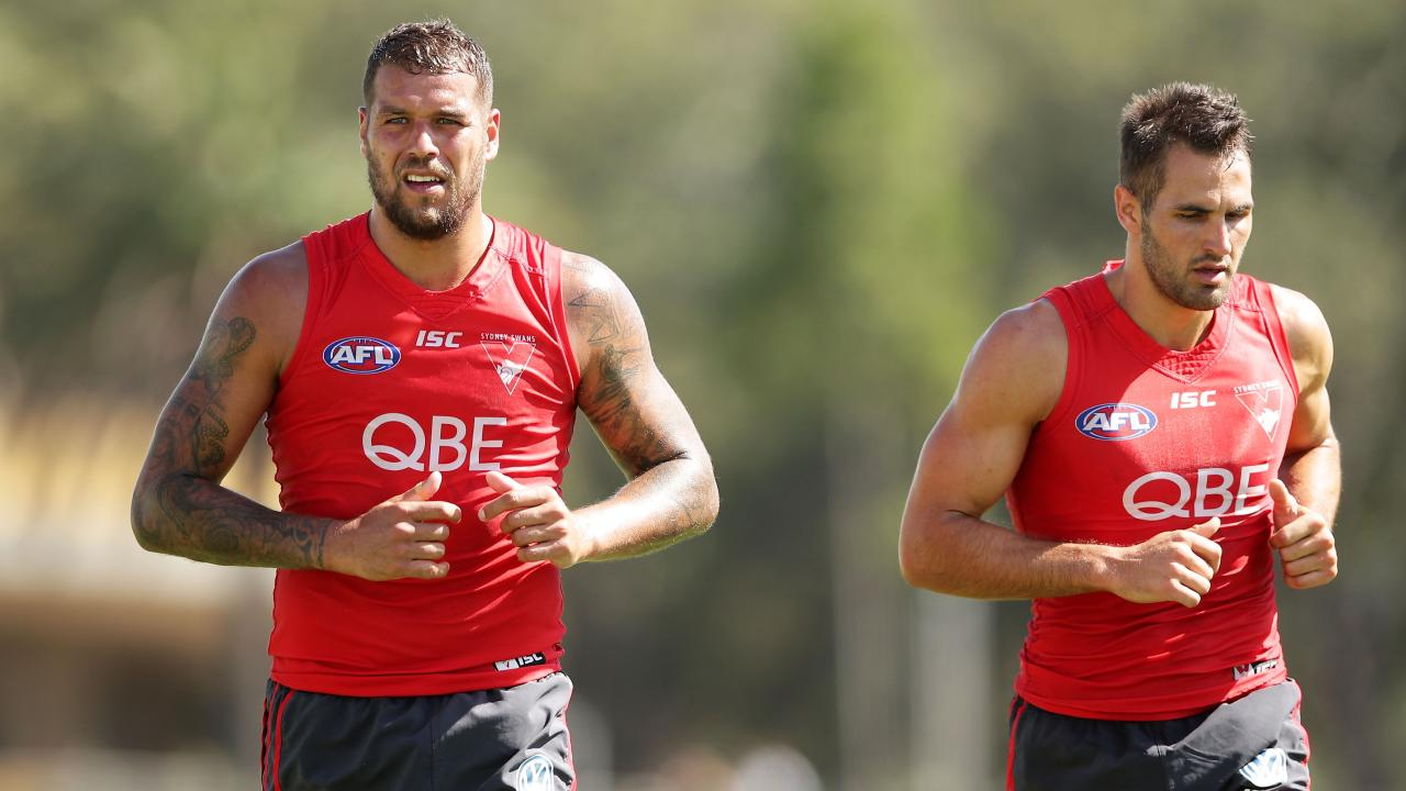 Lance Franklin and Josh Kennedy are two of the Swans' best — and oldest. Pic: Getty Images