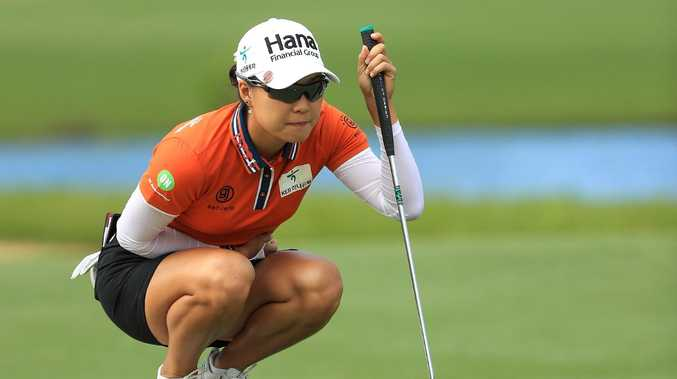 Minjee Lee capped a wonderful year with Australian golf's top gong. Picture: AFP