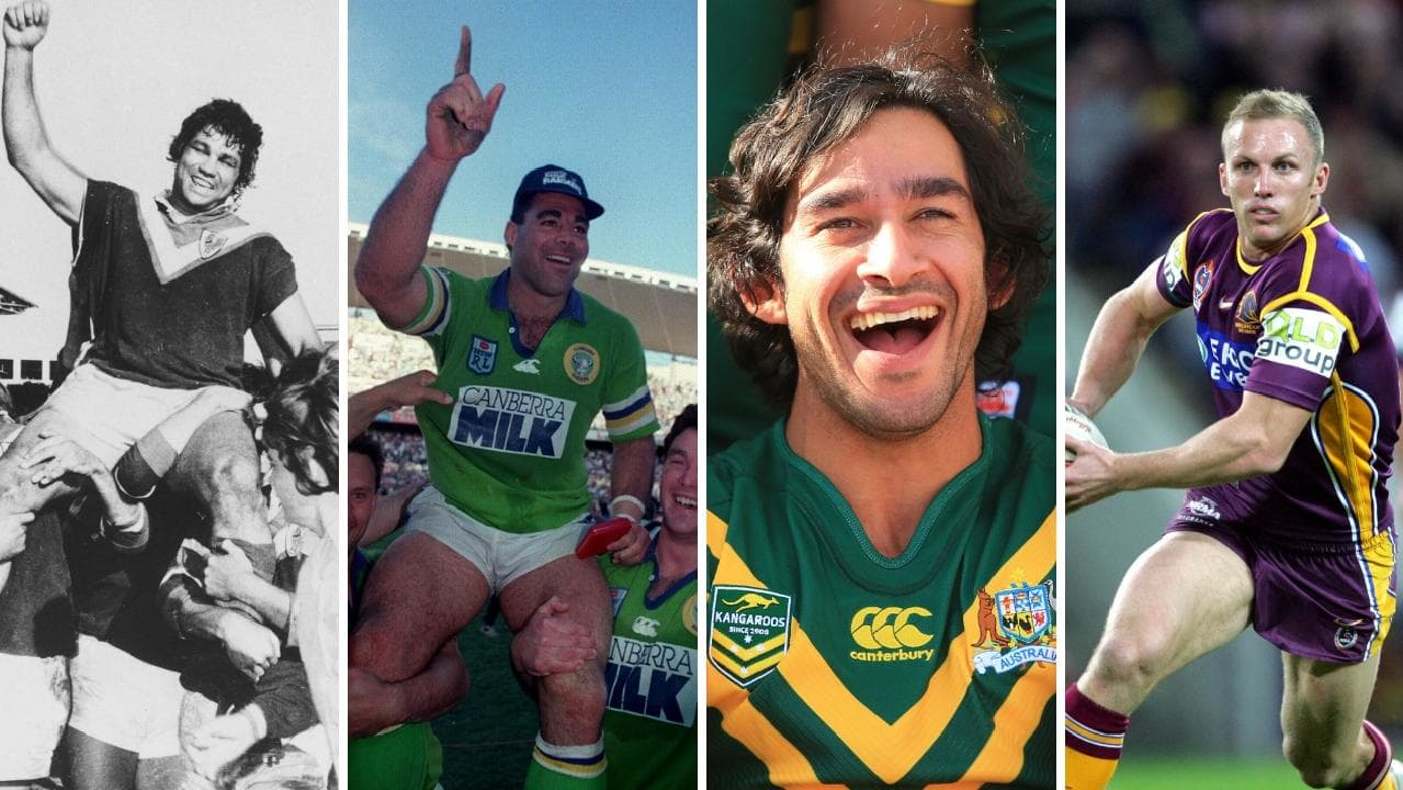 Arthur Beetson, Mal Meninga, Johnathan Thurston and Darren Lockyer.