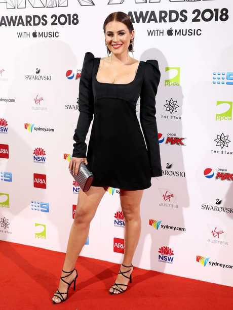 Former Channel [V] host Carissa Walford kept it simple with a LBD. Picture: Getty