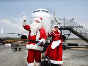 Santa Claus and his wife Mrs Clause get ready to set