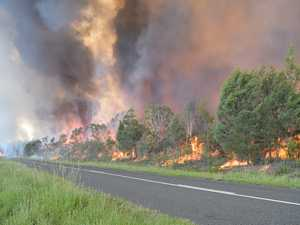 FOREST FIRE: Fraser Coast town circled by wall of flames