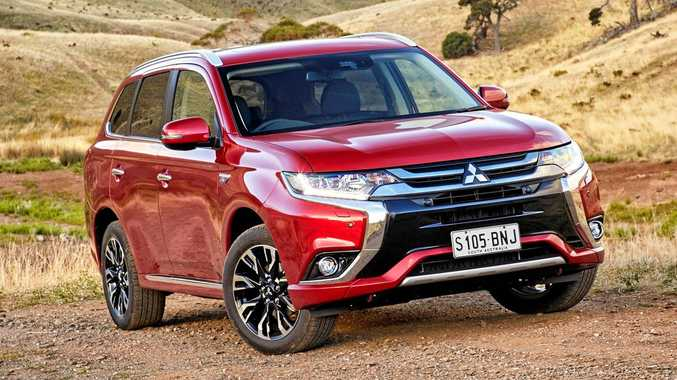 2017 Mitsubishi Outlander PHEV plug in hybrid. Picture: Supplied.