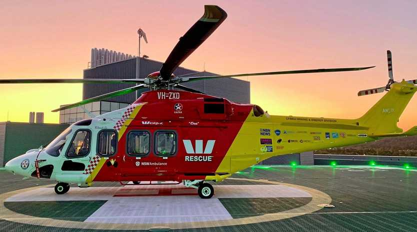 The Westpac Life Saver Rescue Helicopter was called to Evans Head to airlift a one-year-old baby with severe burns.