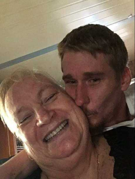 Marie Van Beers, 63, in happier times with her son Michael. Marie was killed at Tweed Heads on Monday. Picture: supplied