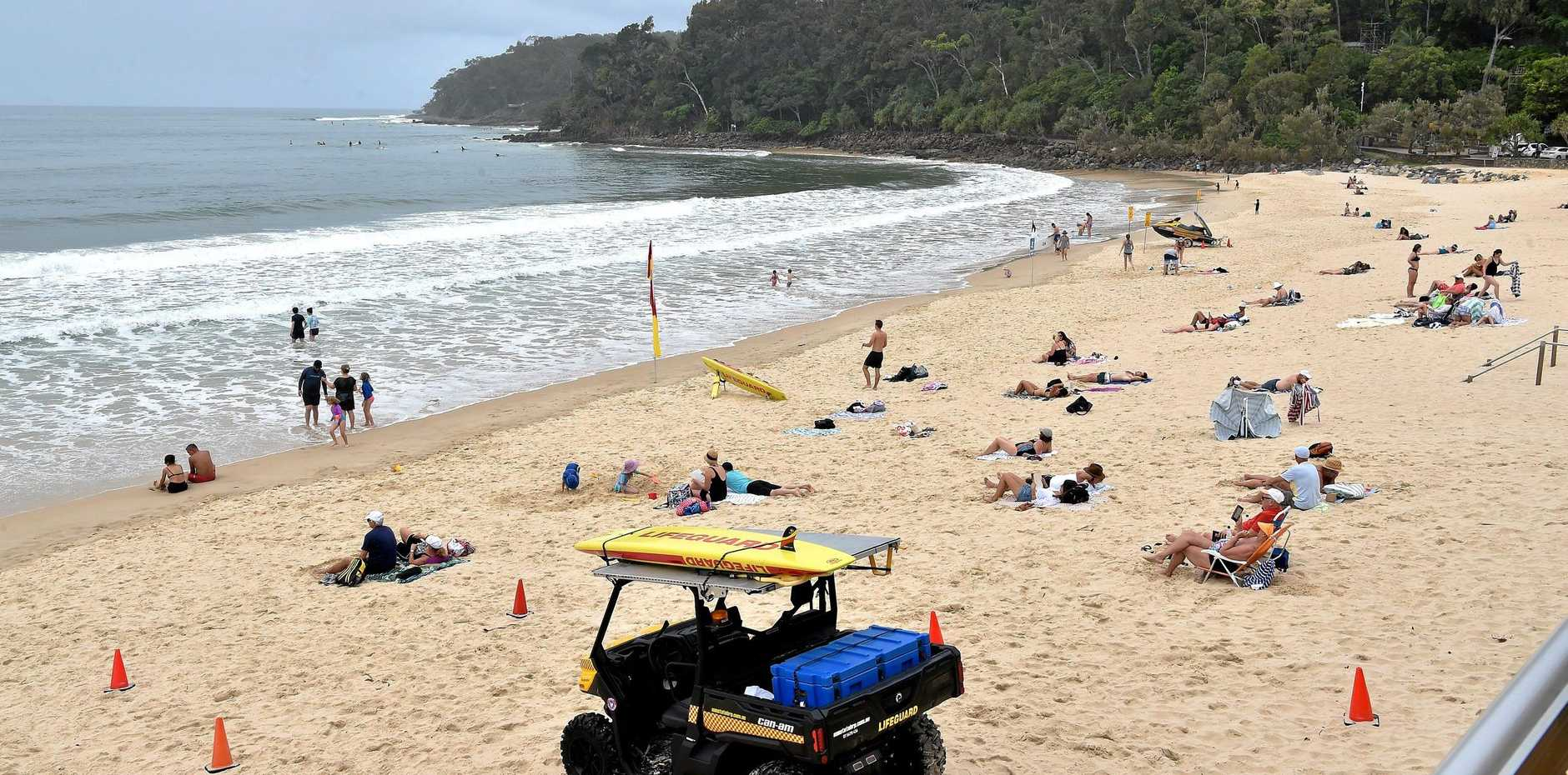 A 69-year-old man was found dead in the water at Noosa main beach yesterday evening.