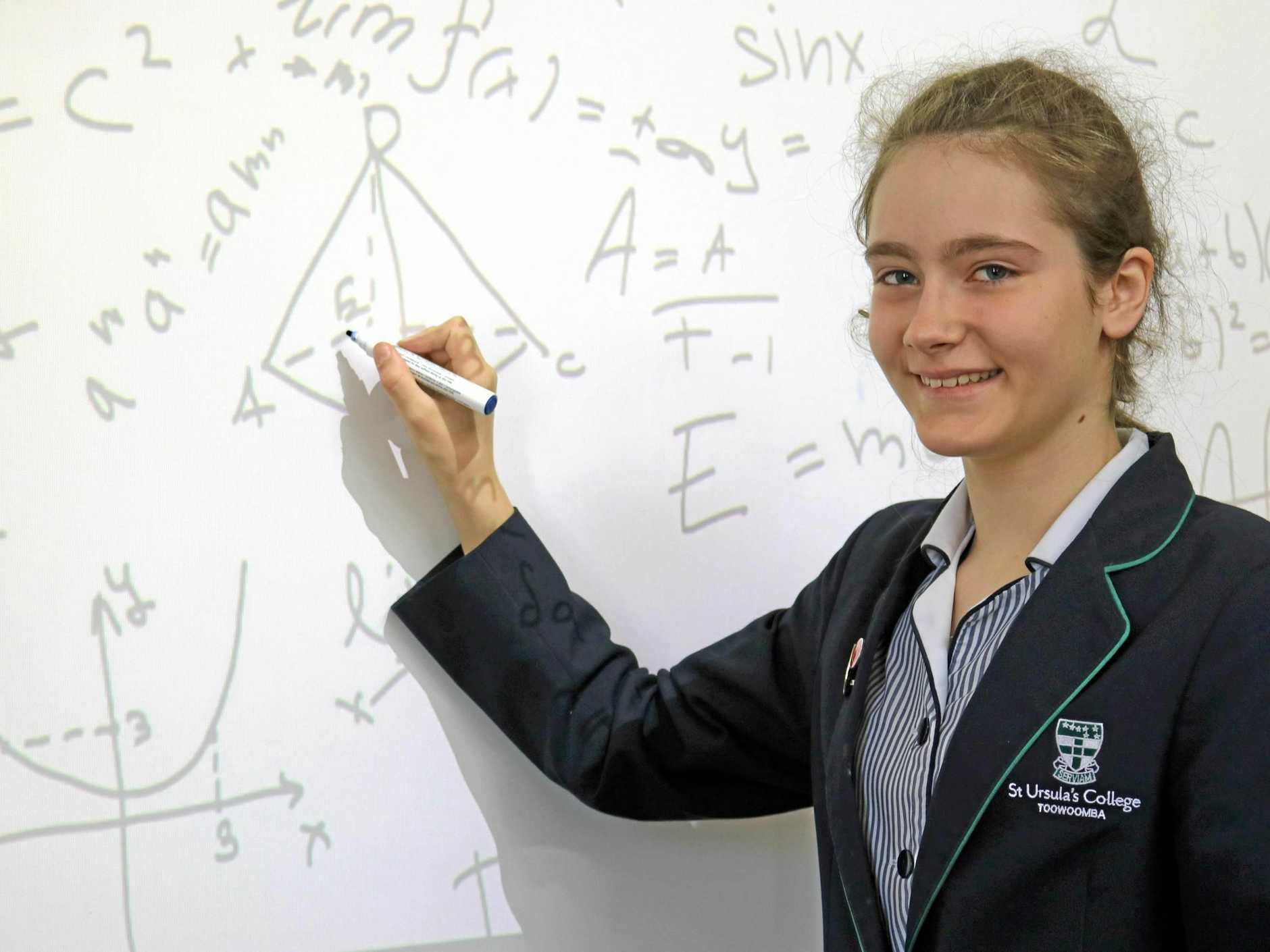 ADDING IT UP: Elizabeth Yevdokimov is completing selection testing in Melbourne for the Australian Olympiad team.