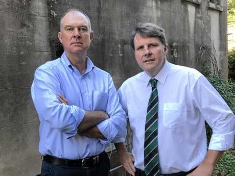 Gympie MP Tony Perrett and Dr Christian Rowan.