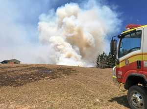 Fire crews save homes at Crediton