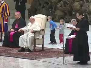 Pope interrupted by show stopping children