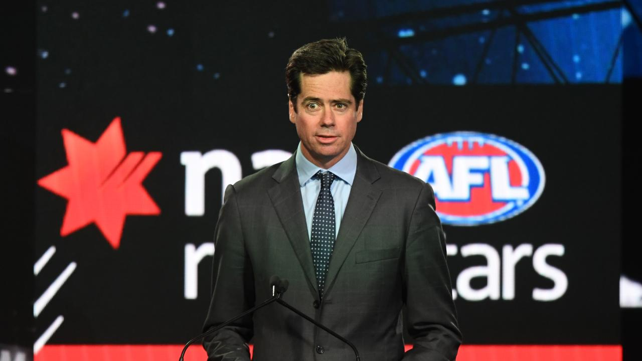 AFL chief Gillon McLachlan played apart in last week's AFL Draft. Pic: AAP