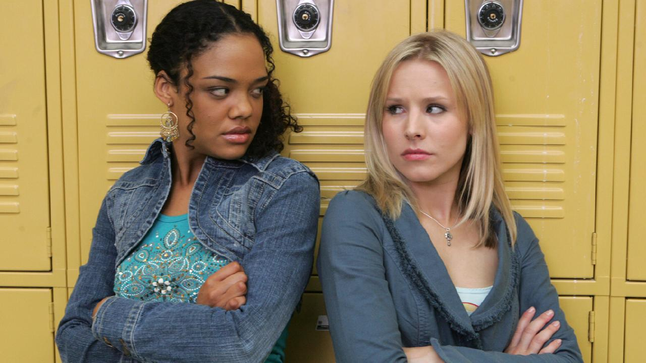 A 22-year-old Tessa Thompson with Kristen Bell in Veronica Mars